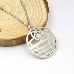 Death Star Outline Necklace