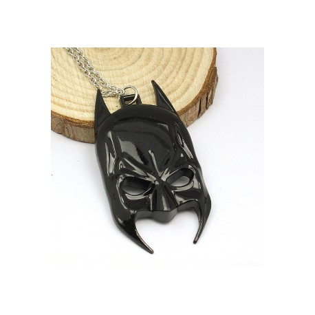Batman mask pendant necklace