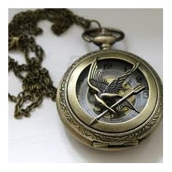 Mocking Jay Pocket Watch Necklace