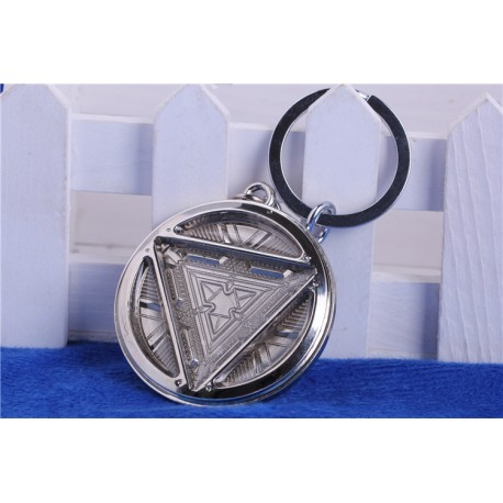Iron Man inspired Arc Reactor key chain