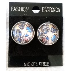 Exploding Tardis Earrings