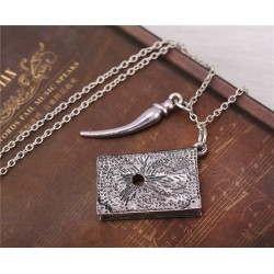 Basilisk Fang and Tom Riddle Diary Necklace