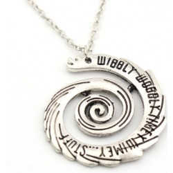 Doctor Who Necklace Doctor Who Wibbly Wobbly Timey Wimey Pendant Necklace