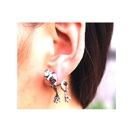 Fashion Punk Gothic Personality Metal Dinosaur Dragon Earring