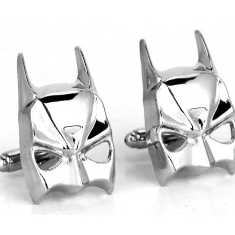 Batman Cuff Links (Silver Mask)