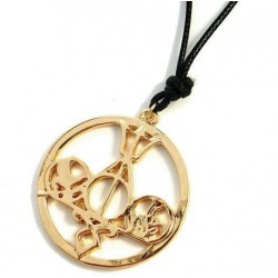 Hunger Games Mockingjay necklace with gold medallion