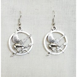 Hunger Games Mocking Jay Drop Earrings