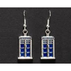 Dr Who Tardis Police Box Earrings