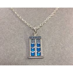 Dr Who Tardis Police Box Necklace (Flat)