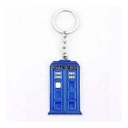 Dr Who Tardis Blue Police Box Keychain