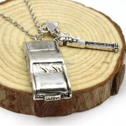 Supernatural Dean Winchester car with license plate necklace