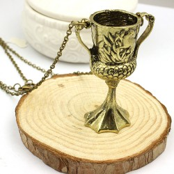 Harry Potter Helga Hufflepuff's Cup Pendant Necklace