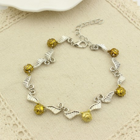 Harry Potter Golden Snitch Quidditch Charm Bracelet