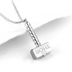 Marvel Thor Hammer Pendant Necklace (Silver)