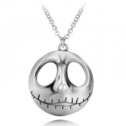 Nightmare Before Christmas Skull Mask Pendant Necklace