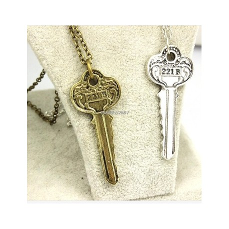 The Key to 221B A Sherlock Necklace