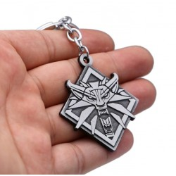 The Witcher White Wolf Head Keyring