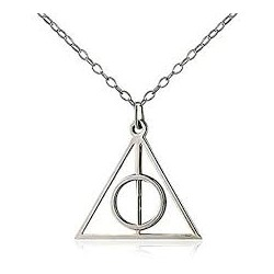 Harry Potter Deathly Hallows Silver Metal Necklace (Fixed)