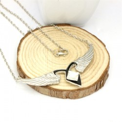 Mortal Instruments City of Bones Winged Silver Metal Necklace