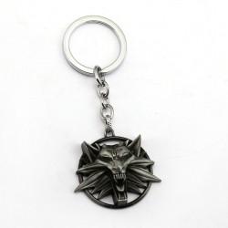 The Witcher Wolf Head Keychain (Gun Metal)