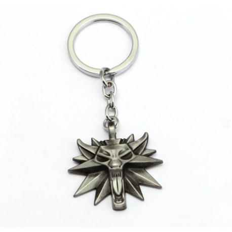 The Witcher Wolf Head Keychain (Gun Metal)