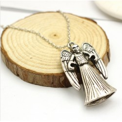 Double sided Weeping Angel Necklace